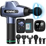 RENPHO Massage Gun Deep Tissue, Muscle Massagers, Powerful Handheld Quiet Percussion Massager with 20 Speed Levels 6 Heads, G