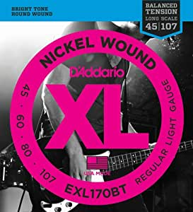 D'Addario ダダリオ ベース弦 ニッケル バランスドテンション Long Scale .045-.105 EXL170BT 【国内正規品】