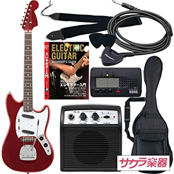 Photogenic フォトジェニック エレキギター ムスタングタイプ MG-200/MRD サクラ楽器オリジナル 初心者入門リミテッドセット