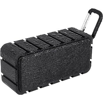 Samesay ワイヤレススピーカー ブラック Bluetooth 防水 防塵 耐衝撃 内蔵マイク