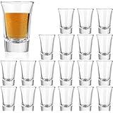 1.2 Ounce Heavy Base Shot Glass Set,QAPPDA Whisky Shot Glasses 1.2 oz,Mini Glass Cups for Liqueur,Double Side Cordial Glasses