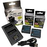 SIXOCTAVE Panasonic パナソニック DMW-BLE9 / DMW-BLG10 互換 バッテリー 2個 [残量表示可能 純正充電器で充電可能 純正品と同じように使用可能] & デュアル USB 急速互換充電器 カメラ バッテリー チャ