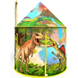 Dinosaur Play Tent Playhouse for Boys and Girls| Realistic Dinosaur Themed Pop Up Fort for Imaginative Indoor and Outdoor Fun