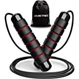 JoyLand Fitness Adjustable Skipping Rope Exercise and Fitness Equipment for Workout - Jump Rope with Velvet Bag for Men Women
