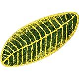 ZebraSmile Various Size Green Leaf Microfiber Soft Bath Rug Water Absorption Entryway Rug for Restroom Home Entrance Carpet E