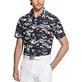 TSLA Men's Short Sleeve Polo Shirts, Regular fit Quick Dry Golf Shirts, Sports Performance Dri Flex Tech Solid Top Shirts