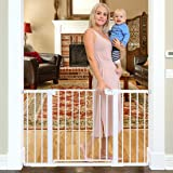 Cumbor 51.6-Inch Baby Gate Extra Wide, Easy Walk Thru Dog Gate for The House, Auto Close Baby Gates for Stairs, Doorways, Inc