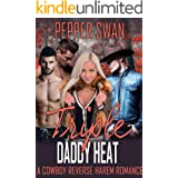 Triple Daddy Heat: A Cowboy Reverse Harem Romance (Cowboy Heat Series)