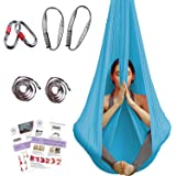 Aerial Yoga Hammock - Premium Aerial Silk Yoga Swing Antigravity Yoga, Inversion Exercises, Improved Flexibility & Core Stren