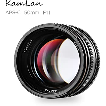 カメラ用交換レンズ Kamlan 50mm f/1.1 マニュアルフォーカス単焦点レンズ SONY Eマウントに対応 モデルNEX3, 3N, 5, 5T, 5R, 6, 7, A5000, A5100, A6000, A6100, A6300