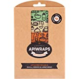 New APIWRAPS Reusable Beeswax Kitchen Wraps Sandwich Lunch Cheese