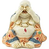 Feng Shui See No Evil Happy Face Laughing Buddha Figurine Home Decor Statue Gift / Birthday Gift / house warming gift We Pay