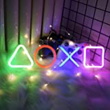 """Gaming Neon Lights, Neon Signs for Bedroom Decor, Playstation Icon, USB Powered Led Neon Sign (16.5""""x4.7"""") for Video Game Roo"""