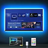 LED TV Backlight, MYPLUS 6.56ft Strip Lights with Remote Control and USB Powered, DIY Color Changing Bias Lighting with 6 Sce