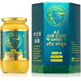 100% Organic Grass fed Ghee Butter from GirOrganic - glass jar of Premium quality A2 Gir Cow cultured ghee. Pasture raised, N