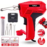 TOPEX Heavy Duty Universal Soldering Gun Iron Kit w/ 6 Second Heat Up and Light