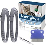 Flea and Tick Collar for Cat, Made with Natural Plant Based Essential Oil, Safe and Effective Repels Fleas and Ticks, Waterpr