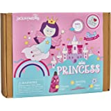 jackinthebox Princess Themed Arts and Crafts for Girls | Make a Cape, Tiara and Wand | Best Gift for Girls Ages 4 5 6 7 8 Yea