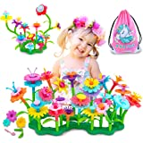 VERTOY Gifts for 3 4 5 6 Year Old Girls, Flower Garden Building Toys Set for Toddlers, STEM Preschool Activities and Gardenin