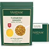 VAHDAM, Turmeric + Ginger Powerful SUPERFOOD Blend (100+ Cups) I Caffeine Free Herbal Tea | Powerful Wellness & Healing Turme