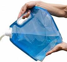 LXLY 专卖 水袋 防灾/防灾用品 水桶 折叠式 便携式 5L/10L 水袋 小巧 方便携带 可重复使用 大容量 折叠 储水 水袋 安全性高 2片装
