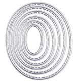 Mvchif Cutting Dies Metal Stencils Scrapbooking Tool DIY Craft Carbon Steel Embossing Template for Paper Card Making (Oval)