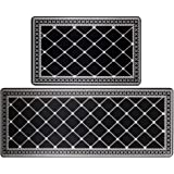 HEBE Anti Fatigue Kitchen Rugs and Mats Set 2 Pieces Thick Cushioned Heavy Duty Standing Mats Kitchen Floor Mats and Runner S
