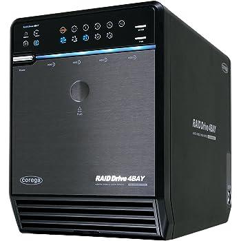 Corega 4BAY RAID eSATA/USB2.0 SATA3.5インチHDDケース CG-HDC4EU3500