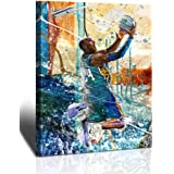 Kobe Bryant Wall Art Basketball Player Canvas Wall Art Painting Sports Posters Artwork Home Decor for Basketball Fan Memorabi