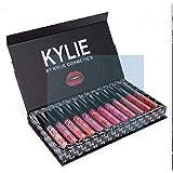 KYLIE JENNER 12 Colors Portable Matte Lipsticks Kit Moisturizing Lip Rouge Gift Set