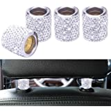 FEENM Car Headrest Head Rest Collars Rings Decor Bling Bling Crystal Diamond Ice for Car SUV Truck Interior Decoration Blings