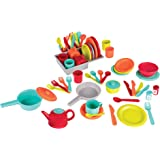 Battat BT2619C1Z Deluxe Kitchen Pretend Play Accessory Toy Set (71 pieces including Pots & Pans)