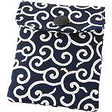 携帯灰皿 おしゃれ かわいい 和風 唐草 紺色 ネイビー 匠の技 河島彰子作 インナーリフィル合計2個付属 日本製