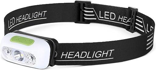 NEWTRENDLEDヘッドライト 充電式 ヘッドランプ 【1200mAh/明るさ230ルーメン/実用点灯15時間】 IPX6防水 軽量 センサモード SOSフラッシュ機能 角度調節可能