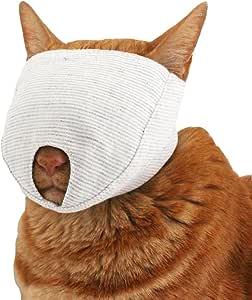 nekozuki もふもふマスク グレー S 猫 爪きり補助具