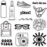VSCO Vinyl Stickers Waterproof,Aesthetic,Trendy - VSCO Girl Essential Stuff for Water Bottles Stickers Suitable for Photo Sha