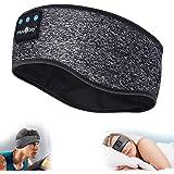 Sleep Headphones Bluetooth Sports Headband, Wireless Music Headband Headphones, IPX6 Waterproof Headphones with Mic for Sleep
