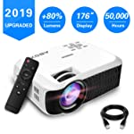 Projector, 2019 Updated ABOX T22 Portable Home Theater LCD Video Projector Support 1080p HDMI USB SD Card VGA AV Phone...