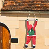 Joiedomi 35 Inch Climbing Hanging Santa Claus Christmas Decoration