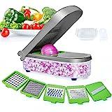 LHS Vegetable Chopper, Pro Onion Chopper Slicer Dicer Cutter - Cheese & Veggie Chopper - Food Chopper Dicer with 5 Blades (Gr
