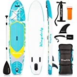 Kingdely Inflatable Stand Up Paddle Board, 10'6 x 6''x 31'', Comes with Durable SUP Accessories & Portable Carry Bag, Non-Sli