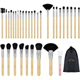 Makeup Brushes Set - Professional Cosmetic Tools 1 PCS Silicone Face Mask Brush and 32 Pcs are Made of Premium Synthetic Fibe