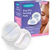 Lansinoh Stay Dry Disposable Nursing Pads, 200 Count (2 Packs of 100), Superior Absorbency, Ultra Soft Leak Protection for Br