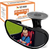 COZY GREENS Baby Car Mirror for Windshield - Compact Rear View Mirror - Rearview Infant Forward Facing in Back Seat - 100% Li