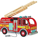 Le Toy Van Cars & Construction Collection Wooden Fire Engine Set Premium Wooden Toys for Kids Ages 3 Years & Up, Multi