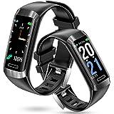 智能手表 【革新款 長時間待機時間】 活動量計 IP67防水 計步器 手表 彩色屏幕 GPS運動記錄 Line/Twit…