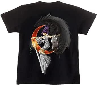 [GENJU] Tシャツ 天使 堕天使 翼 羽 表裏デザイン有 メンズ キッズ