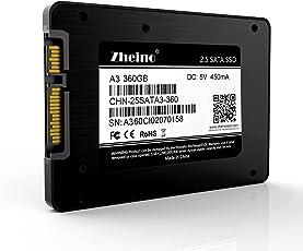 Zheino SSD 360GB 内蔵2.5インチ 7mm 3D Nand 採用 SATA III 6Gb/s 3年保証