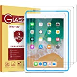 "OMOTON [3 Pack] Tempered Glass Screen Protector for Apple iPad 2018(6th Generation) & 2017 9.7"" / iPad Pro 9.7 Inch/iPad Air"