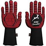 BBQ Grill Gloves - Heatproof Upto 500 Degree Celsius - Heat Resistant Barbecue Gloves for Cooking Grilling Fireplace Oven Glo